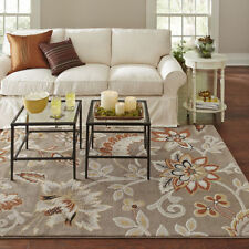 Transitional Modern Contemporary Floral Taupe Gray Area Rug