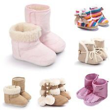 Toddler Infant Girl Soft Sole Shoes Baby Warm Winter Boots Gift 0-18 Months Size