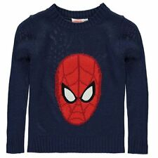 Character Kids Knit Jumper Infant Boys Ribbed Pullover Long Sleeve Crew Neck Top