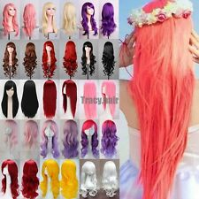 New Fashion Multi Color Women's Wigs Long Curly Anime Cosplay Party Wig Syntheti
