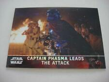 2016 STAR WARS CHROME FORCE AWAKENS PRISM 32/99 CARD 5 PHASMA LEADS THE ATTACK
