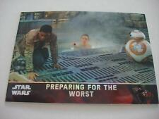 2016 STAR WARS CHROME FORCE AWAKENS PRISM 65/99 CARD 40 PREPARING FOR THE WORST
