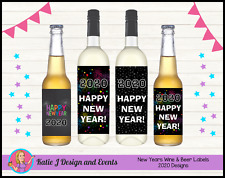 ** NEW YEARS 2017 WINE BOTTLE LABELS GIFTS PRESENTS TABLE PARTY DECORATIONS **