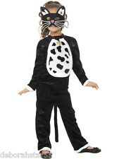 Girls Kids Black and White Cat Witch Halloween Fancy Dress Costume Age 4-7 years