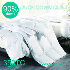 New 90% WHITE DUCK DOWN 350TC COVER QUILT/DOONA/DUVET Aus size