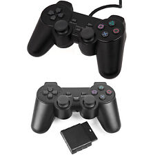 Black Dual Shock Wired, Wireless Controller Joypad Gamepad for PS2 PlayStation 2