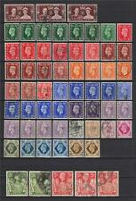 NICE LOT OF GREAT BRITAIN GEORGE VI PERIOD 75 STAMPS!!!!!