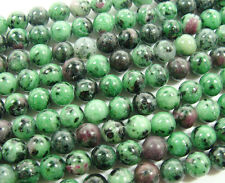 Ruby Zoisite Round Gemstone Beads~Guaranteed