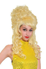 Pantomime Dame Country Girl Blonde Beehive Wig Fancy Dress Prop
