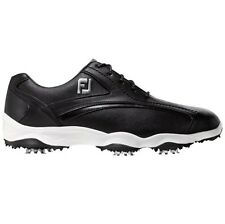FootJoy Mens Superlites Golf Shoes 58014 - Previous Season Style – Black - New