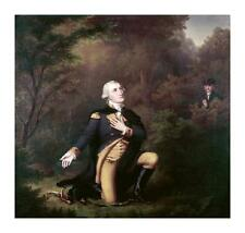 Paul Weber George Washington In Prayer At Valley Forge Giclee 29.75x28.25