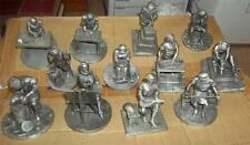 antoon luyckx set 12 pewter figure master craftsmen of golden age franklin mint