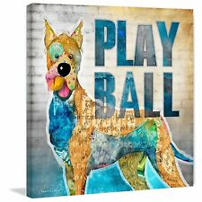 Marmont Hill - 'Play Ball' by Connie Haley Painting Print on Wrapped Canvas