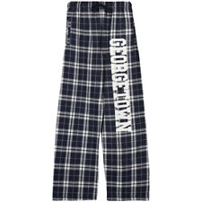 Georgetown Hoyas Youth Plaid Flannel Pants - Navy
