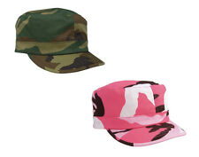 Womens Ladies Pink Woodland Military Style Army Camo Fatigue Adjustable Hat Cap