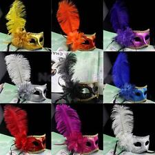Venetian Feather Crystal Eye Mask For Masquerade Costume Party Mask Ball Decor