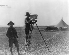 Antique Movie Camera In Action 1910s 8x10 Reprint Of Old Photo