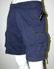Mens Army Style Camp/Work/Fish Cargo Shorts -Navy