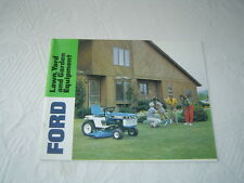 Ford YT LT R yard lawn and garden tractor and equipment catalog brochure