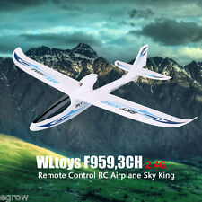 Wltoys F959 3CH 2.4G Remote Control LED Light RC Helicopter Aircraft Yellow&