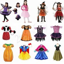 Kids Kids Girls Prom Witch Queen Halloween Costume Horror Fancy Dress Outfit
