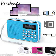 Rechargeable Digital Music MP3 Player Micro SD/TF Card USB Speaker FM Radio LOT