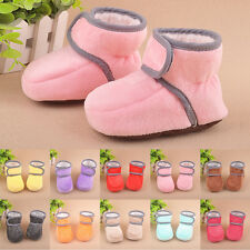 Baby Girl Boy Soft Sole Booties Snow Boots Infant Toddler Newborn Crib Shoes NE