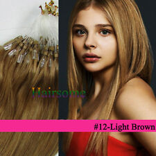 Micro Easy Loop Ring Bead Tipped Remy Human Hair Extensions 100S/200S Full Head