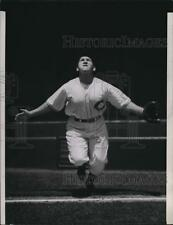 1943 Press Photo Pat Seerey Outfielder Cleveland Indians MLB Baseball Player