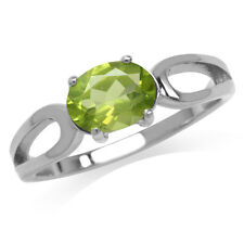 1.34ct. Natural Peridot 925 Sterling Silver Solitaire Ring