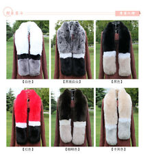Women Warm Faux Rabbit Fur Collar Scarf Stole Cape Thick Long Fluffy Shawl Wrap
