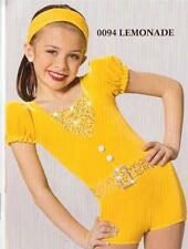 Jazz Dance Costume Artstone Yellow Romper Tap Skate Twirl Lemonade 94