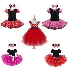 Minnie Mouse Kids Girls Skirt Halloween Outfit Party Fancy Tutu Dress Up Costume