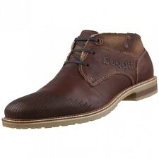 New BUGATTI Mens Low Shoes Desert Boots Lace-up Leather Shoes Shoes