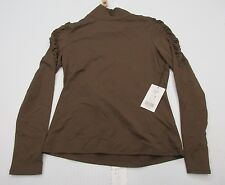 new ETCETERA J1787 Women's Size M Casual Long Sleeve Brown Blouse Shirt
