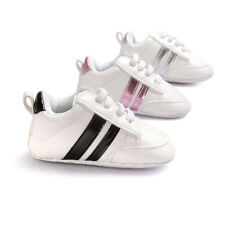 Infant Toddler Baby Boys Girls Soft Sole Crib Shoes Sneaker 0-18 Months Size AU
