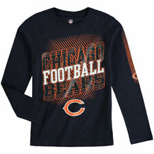 Chicago Bears Youth Frequency Long Sleeve T-Shirt - Navy - NFL