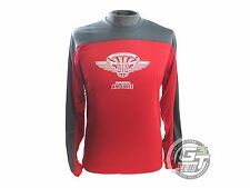 Innova AIR FORCE 2.0 Long Sleeve Rapid-Dry Disc Golf Jersey - RED / SILVER