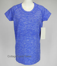 NEW LULULEMON Run Swiftly Tech Short Sleeve Top Crew Sz 2 Space Dye Harbour Blue