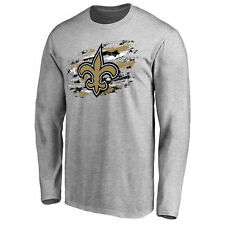 New Orleans Saints Pro Line True Colors Long Sleeve T-Shirt - Ash - NFL