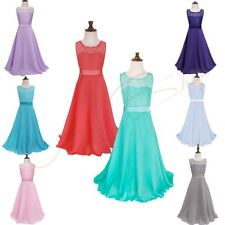 Flower Girl Dress Kid Party Prom Ball Gown Wedding Bridesmaid Pageant Graduation