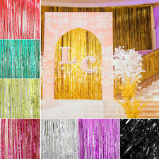 Multicolor Shimmer Foil Door Rain Curtain Cover Party Decoration Metallic 1mX2m