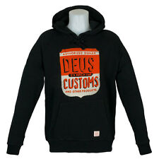 SP Deus Ex Machina Clothing Hoody Authorised Dealer Washed Black skate