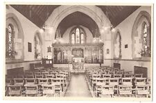 DENMEAD All Saints Church Interior, Hampshire, Postcard by Frith, Unused