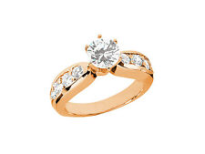 Natural 1.30Ct Round Cut Diamond Engagement Ring Solid 18k Gold IJ SI2