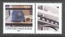 U.N. MNH 2012 Personalized Single & Label My Guided Tour (2)