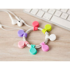 New Multifunction Magnet Earphone Cord Winder Cable Holder Organizer Clips 3pcs