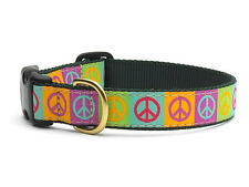 ANY SIZE - UP COUNTRY - MADE IN USA - DESIGNER DOG COLLAR - PEACE