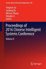 Proceedings of 2016 Chinese Intelligent Systems Conference Yingmin Jia