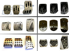 Universal Performance Motorsport Style, Car Alloy Racing Foot Pedals Set. Silver